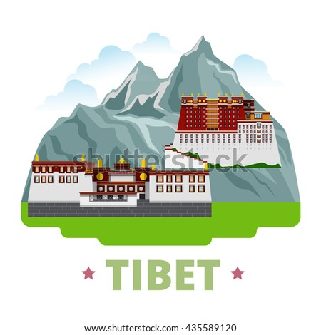 tibet country design template