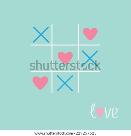 tic tac toe game with cross and