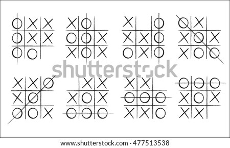 tic tac toe in concept backgrounds Photo stock ©