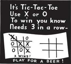 Tic Tac Toe - Retro Ad Art Banner