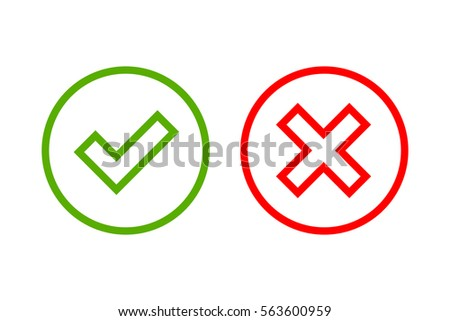 Correct And Incorrect Symbol Vector Icons Download Free Vector Art