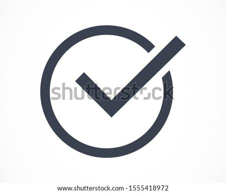 Tick checkmark approval check mark doodle Icon .Tick checkmark Vector Icon . Tick checkmark Check list button icon. Tick checkmark mark in round sign Icon .
