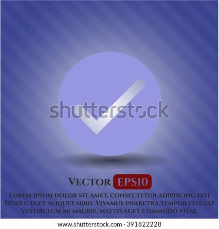 Tick icon or symbol