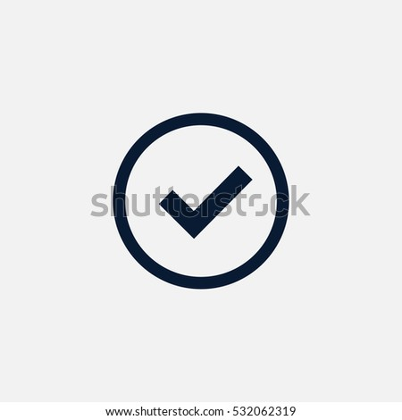 Tick icon simple accept sign vector approve illustration