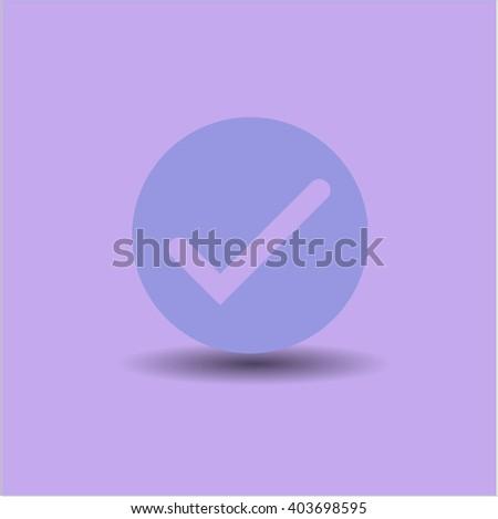 Tick icon vector illustration