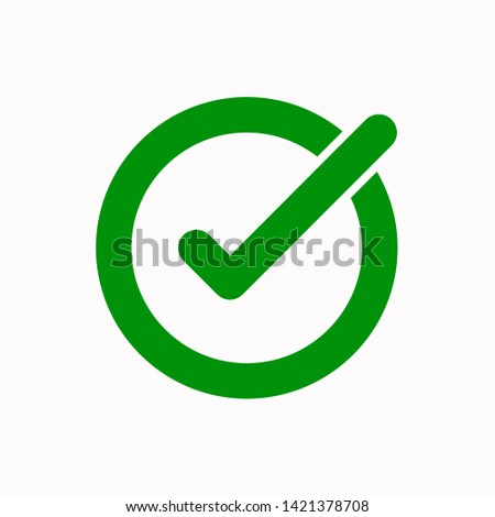 Tick icon, vector illustration. Flat design style. vector tick icon illustration isolated on white, tick icon Eps10. tick icons graphic design vector symbols.