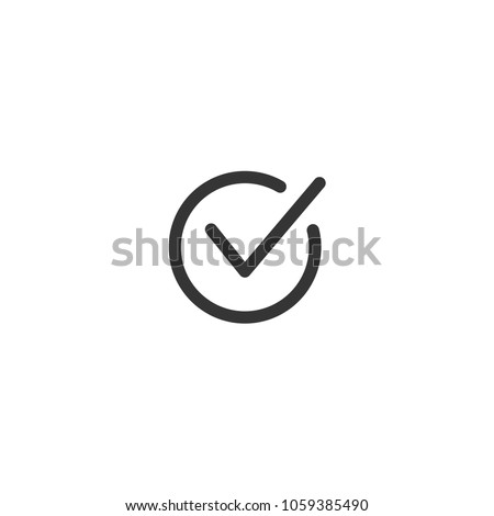Tick icon vector symbol doodle style checkmark isolated on white background Stockfoto ©
