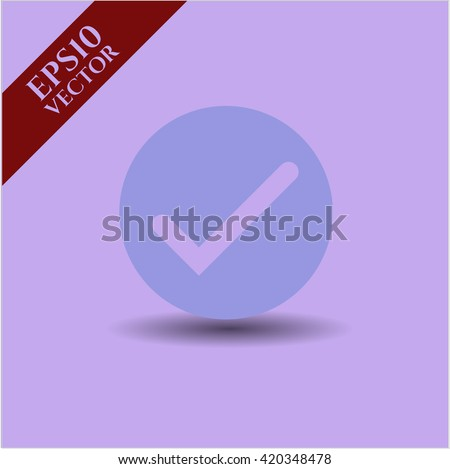 tick icon vector symbol flat eps jpg app web concept website