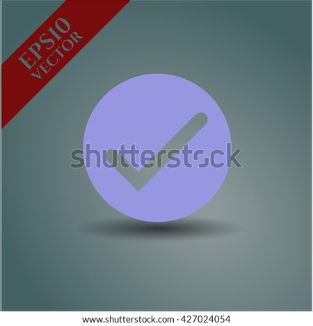 tick icon vector symbol flat eps jpg app web concept website