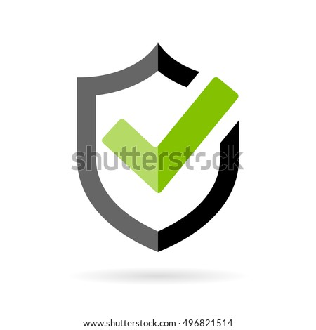 Tick mark approved icon vector on white background