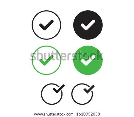 Tick mark sing for web correct icon tick icon