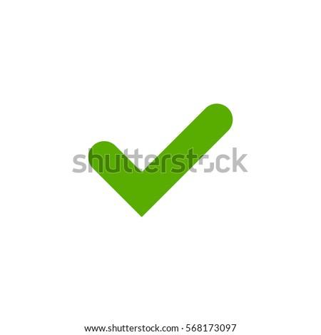 tick sign element green