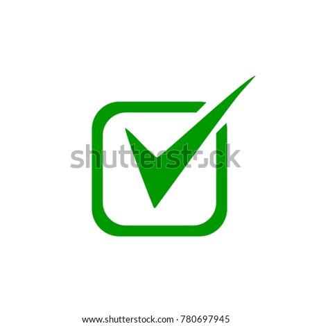 Tick Symbol In Green Color Sign Ez Canvas