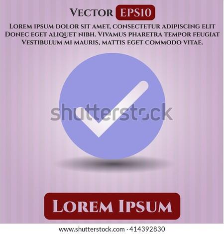 Tick vector icon or symbol