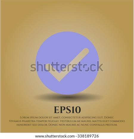 Tick vector symbol