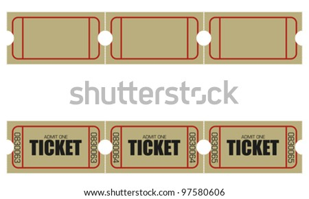 ticket - stock vector