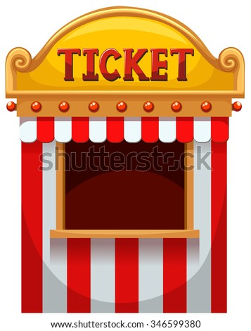 Ticket booth at the carnival illustration