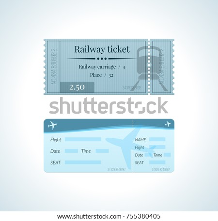 ticket for a train  and a...