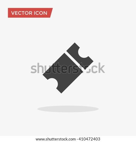 Ticket Icon in trendy flat style isolated on grey background. Raffle symbol for your web site design, logo, app, UI. Vector illustration, EPS10.