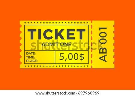 Altes rotes orange Ticket - Kostenlose Vektor-Kunst, Archiv-Grafiken ...
