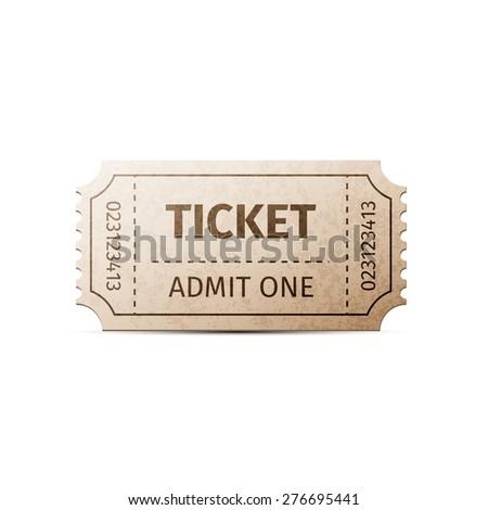 ticket. illustration of...