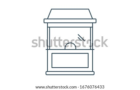 Ticket office icon vector sign and symbol isolated on white background