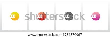 Ticket On Letter Logo Design O Foto stock ©