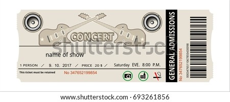 ticket rock concert invitation