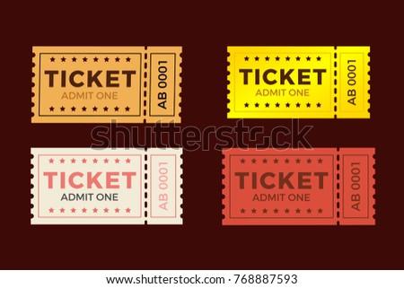 ticket stub design