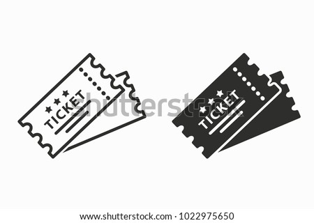Ticket vector icon. Black illustration isolated for graphic and web design. Foto stock ©