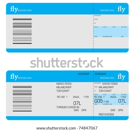 tickets - stock vector