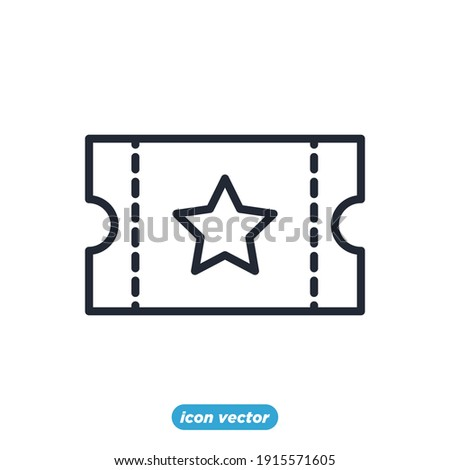 Tickets icon. Ticket symbol template for graphic and web design collection logo vector illustration