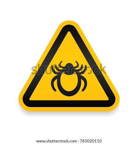 ticks warning mite bug icon