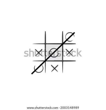tictac toe game vector type icon Foto stock ©