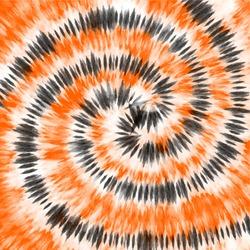 Tie dye orange black watercolor background.