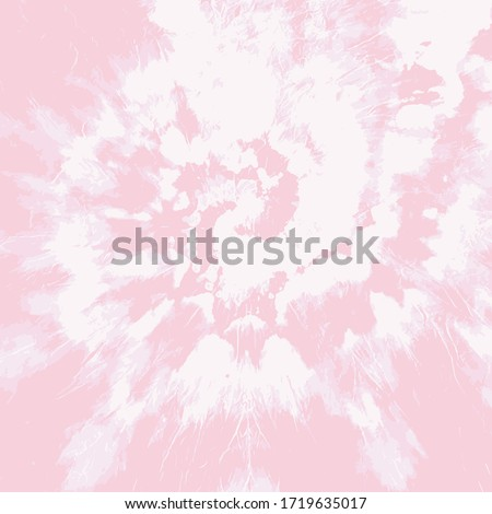 Tie Dye Twist Vector. Psychedelic Swirl. Pink Ink Background. Hypnotic Dip Dyed Textile. Orchid Smoke Fashion. Watercolor Brush Print. Rose Bohemian Spiral. English Rose Hippie Effect.