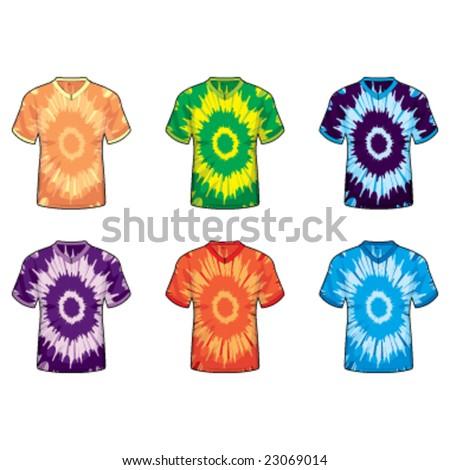 Tie Dye V-Neck Shirts