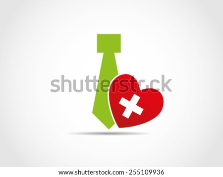 Tie heart health care insurance employee workers stock for Interior health employee website