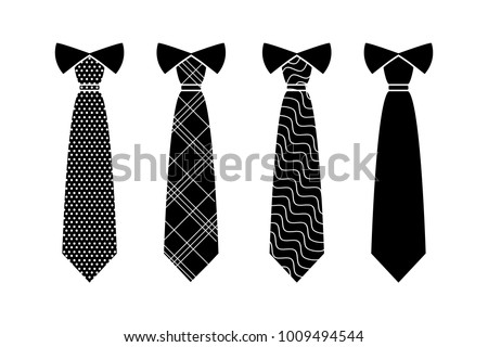 Tie Icon in trendy flat style isolated on white background. Necktie symbol for your web site design, logo, app, UI. Vector illustration, Stock foto ©