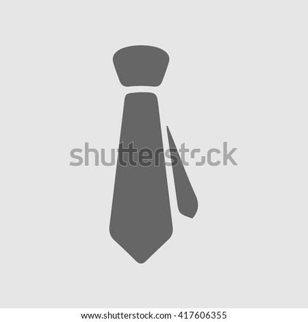 Tie vector icon. Necktie simple isolated sign. Businessman business logo symbol.