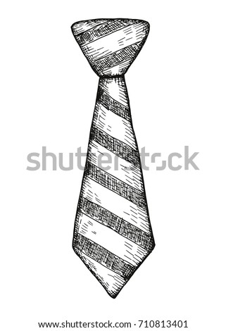 tie. vector illustration hand drawing ストックフォト ©