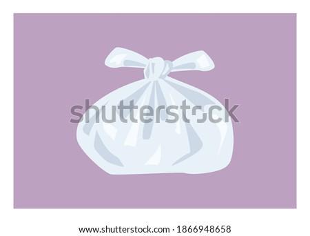 Tied plastic bag. Simple flat illustration  Foto stock ©
