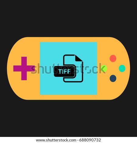 tiff simple vector icon