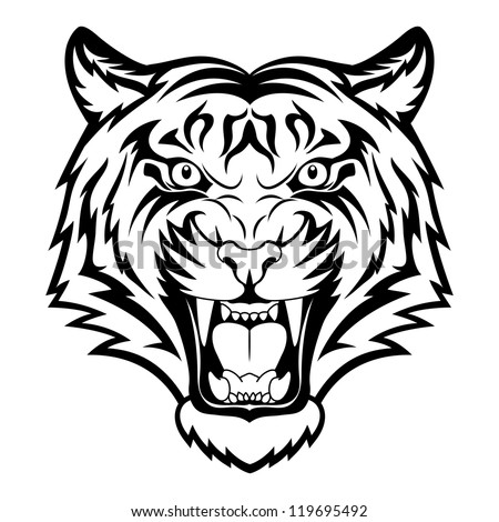 tiger anger black tattoo