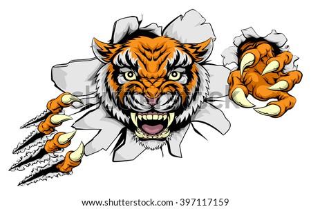 tiger animal sports mascot