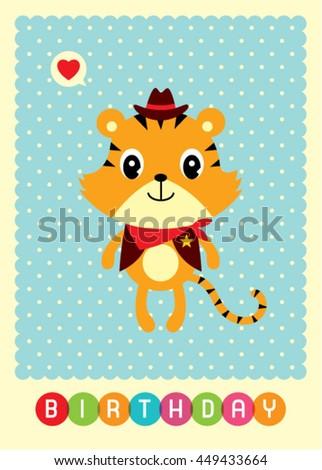 Tiger Birthday Card Ez Canvas