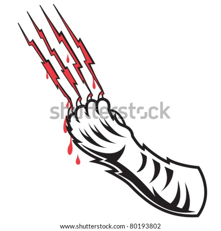 Tiger Claw Marks http://www.shutterstock.com/pic-80193802/stock-vector-tiger-claw-scratching-and-leaving-a-claw-mark-in-blood.html
