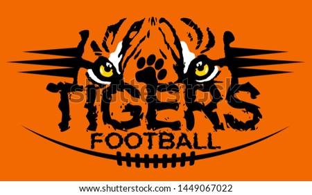 tiger eyes football team design