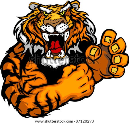 tiger fighting mascot body