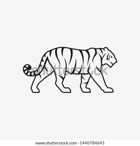 tiger going line logo sign